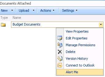 SharePoint - Alert Me on a Folder